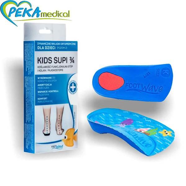 Dynamiczne Wkładki Ortopedyczne Foot Wave Kids Supi 3/4