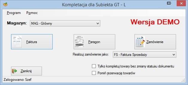 Program Kompletacja dla Subiekta GT