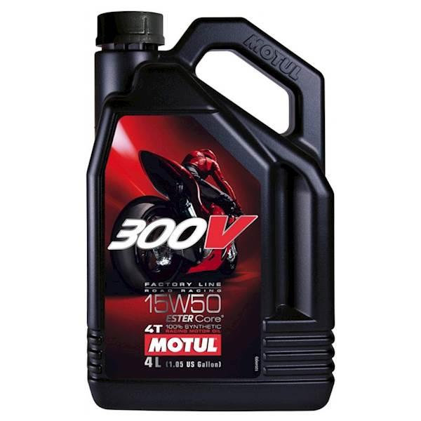 Olej silnikowy Motul 300V 15W50 Factory Line 4L Sy