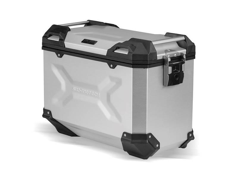 Kufer boczny TRAX ADV ALU 45L srebrny prawy