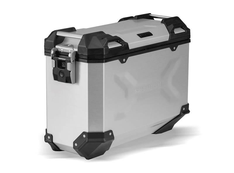 Kufer boczny TRAX ADV ALU 37L srebrny lewy