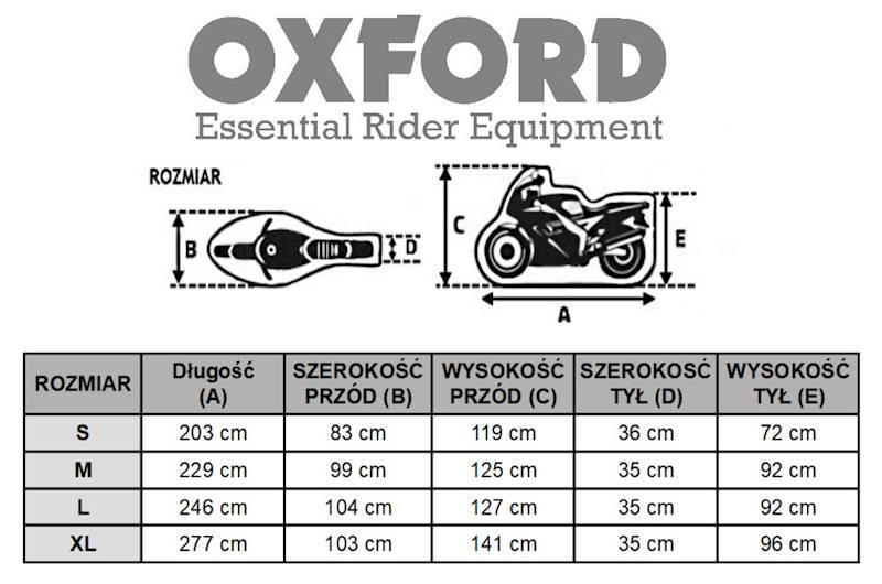 OXFORD POKROWIEC NA MOTOCYKL AQUATEX BK ROZ M