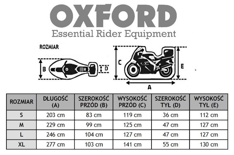 OXFORD POKROWIEC NA MOTOCYKL AQUATEX ZK ROZ S