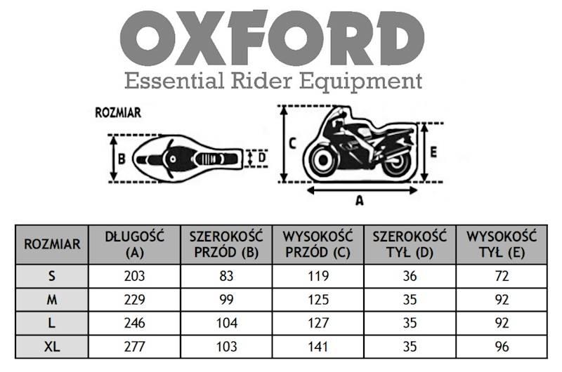 OXFORD POKROWIEC NA MOTOCYKL DORMEX ROZ S