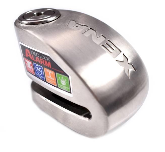 XENA XX10 Blokada na tarczę z alarmem srebrna