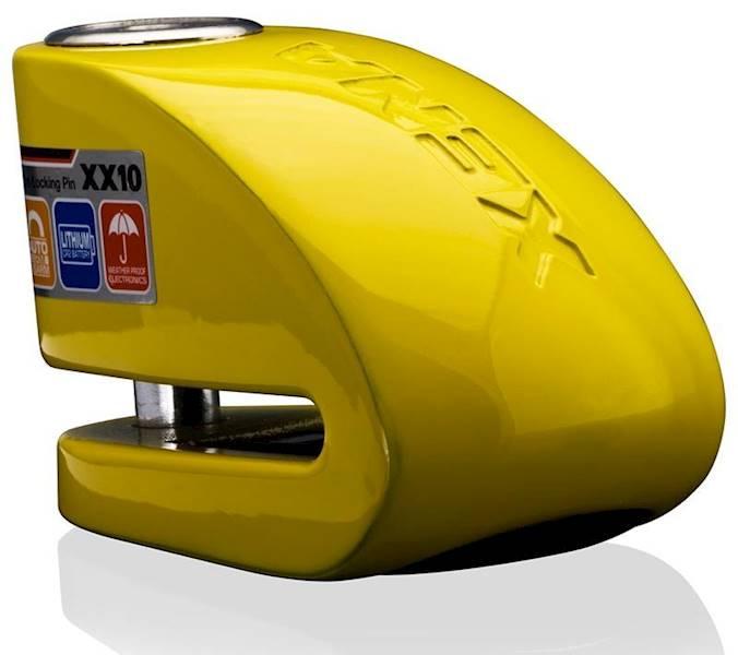 XENA XX10 Blokada na tarczę z alarmem żółta