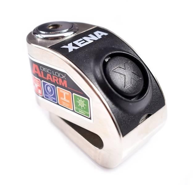 XENA XZZ6 Blokada na tarczę z alarmem srebrna