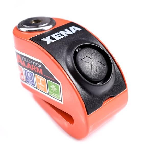 XENA XZZ6 Blokada na tarczę z alarmem pomarańczowa