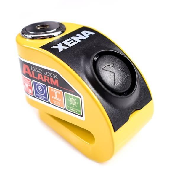 XENA XZZ6 Blokada na tarczę z alarmem żółta