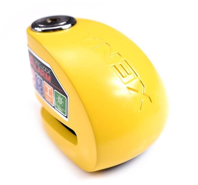 XENA XX6 Blokada na tarczę z alarmem żółta