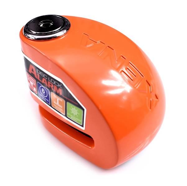 XENA XX6 Blokada na tarczę z alarmem pomarańczowa