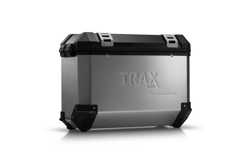 Kufer boczny TRAX ION ALU 37L srebrny lewy