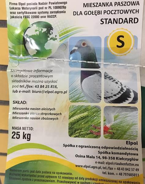 Mieszanka P dla gołębi a 25 kg