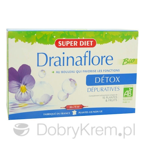 SUPER DIET Drainaflore Detox suplement 20 x 15 ml