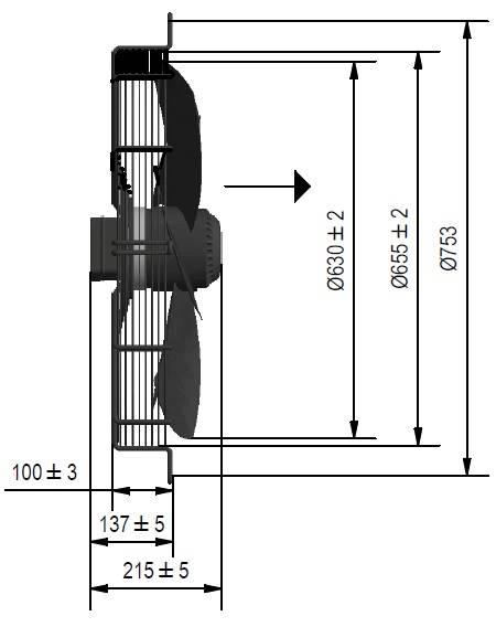 Wentylator FMI typ WE5G63P23M451E