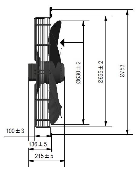 Wentylator FMI typ WE5G63A23M451E