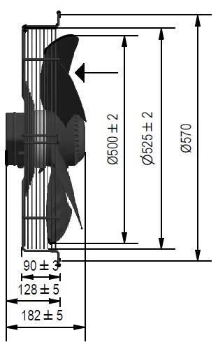 Wentylator FMI typ WE5G50A23T451K
