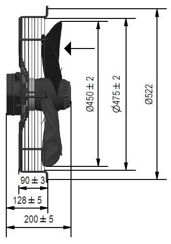 Wentylator FMI typ WE5G45A23M451K
