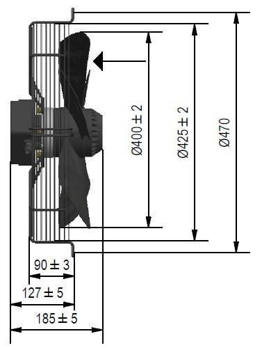 Wentylator FMI typ WE5G40A23M451K