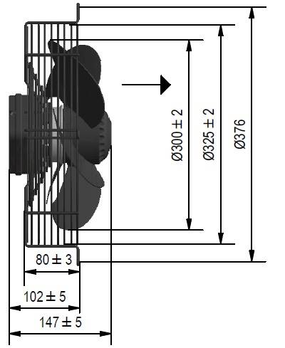 Wentylator FMI typ WE5G30P23M451E