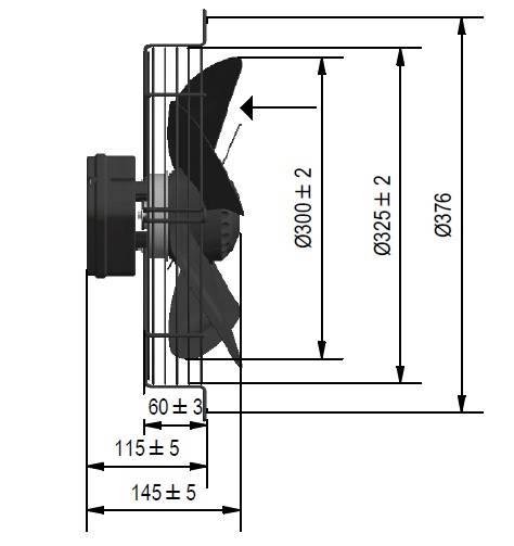 Wentylator FMI typ WE5G30A23M451E