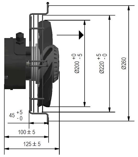 Wentylator FMI typ W9G20P30M451E