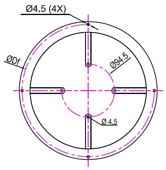 Pierścień tłoczny FMI typ 230/48 ; RAL 7032
