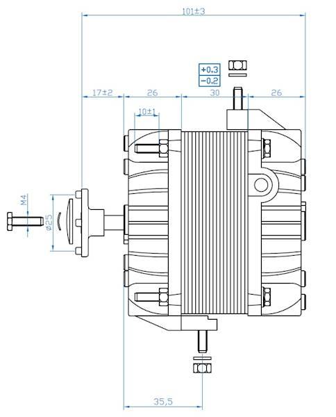 Silnik wentylatora FMI moc 18(20)W / 73W