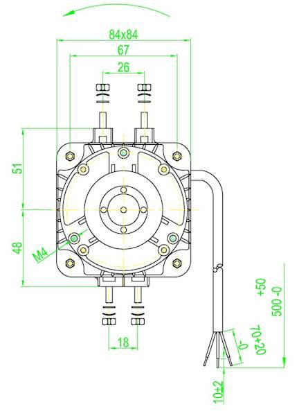 Silnik wentylatora FMI moc  5W / 29W