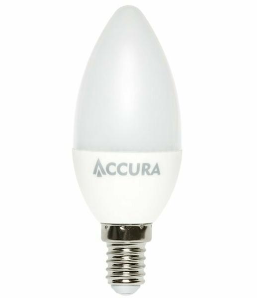 Żarówka LED ACCURA E14 7W ciepła świeczka