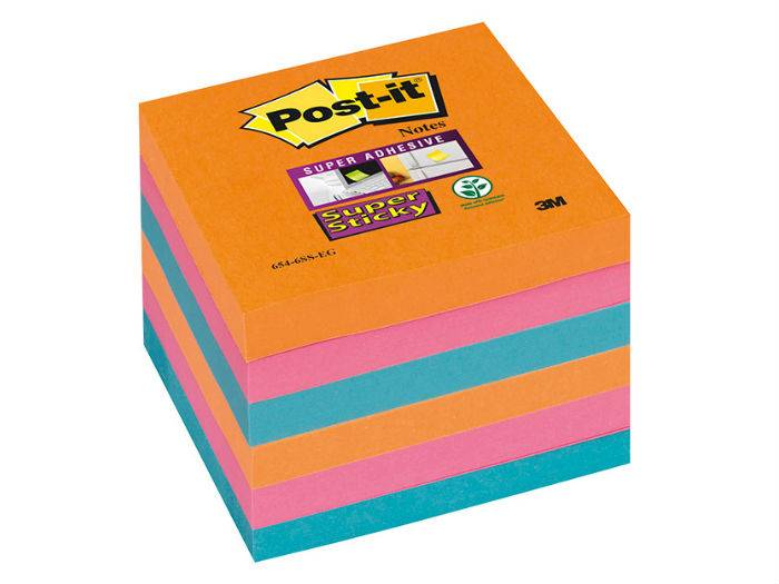 NOTES Post-it 3M kostka samoprzylepna  neon