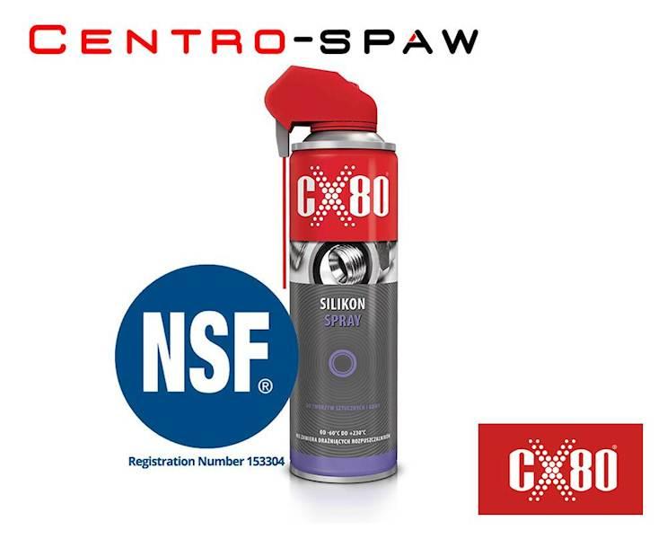 CX80 - Smar Silikon Spray 500ml DO TWORZYW SZTUCZNYCH I GUMY