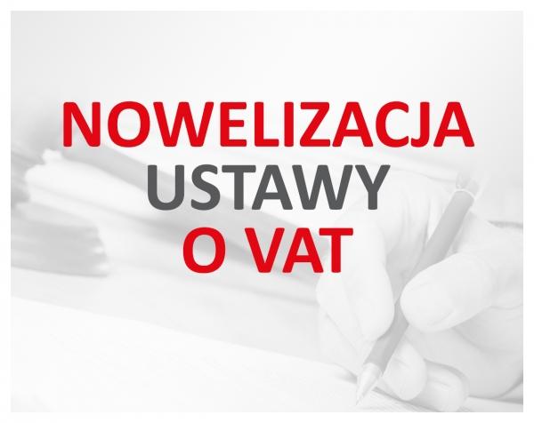 NOWELIZACJA  STAWEK VAT