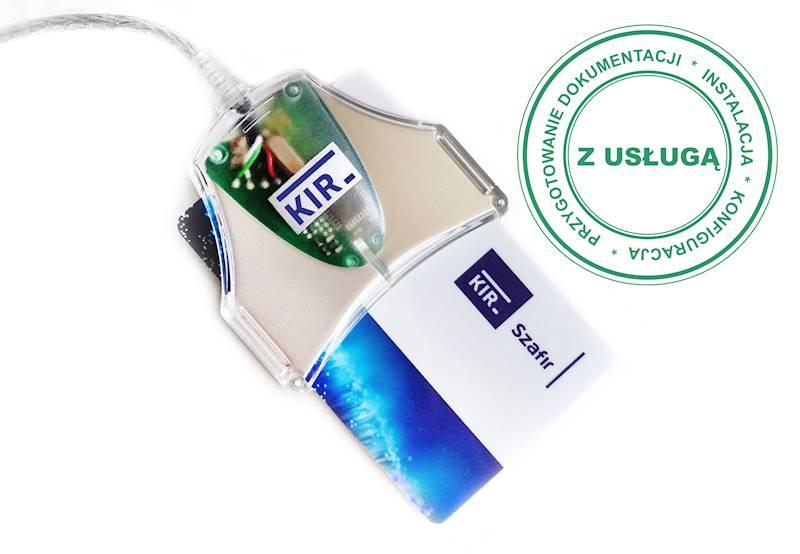 Podpis Elektroniczny KIR Szafir • 1 rok • Czytnik z kablem • Duża karta (do czytnika z kablem) • Tak
