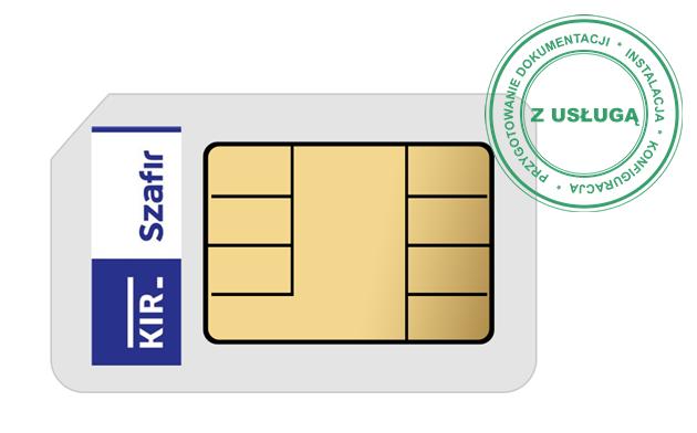 Podpis Elektroniczny KIR Szafir • 2 lata • Bez czytnika • Mała karta SIM (do czytnika mini) • Tak