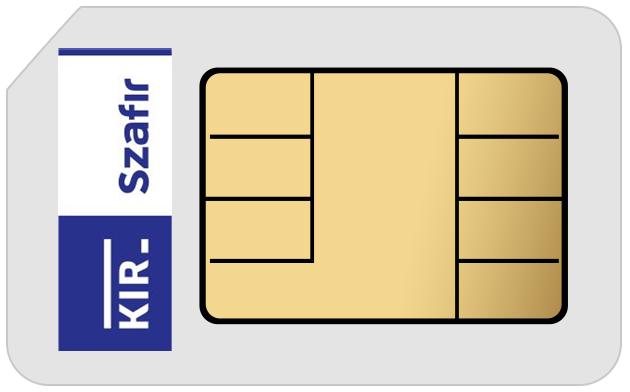 Podpis Elektroniczny KIR Szafir • 2 lata • Bez czytnika • Mała karta SIM (do czytnika mini) • Nie