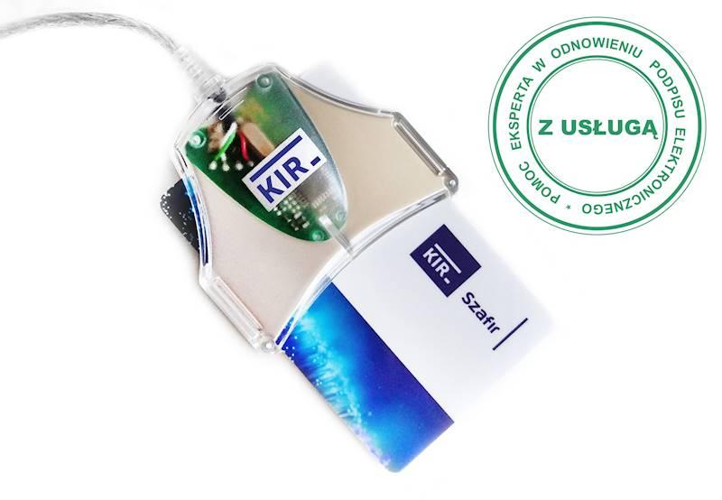 Odnowienie Podpisu Elektronicznego KIR Szafir • 1 rok • Duża karta (do czytnika z kablem) • Tak