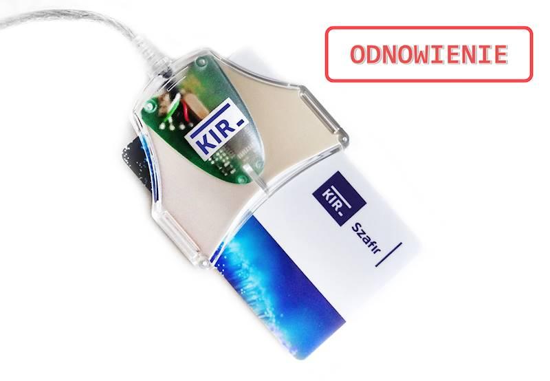 Odnowienie Podpisu Elektronicznego KIR Szafir • 2 lata • Duża karta (do czytnika z kablem) • Nie