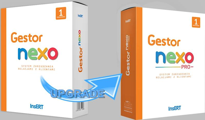 Gestor - Upgrade z nexo do nexo PRO
