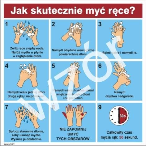 422 E - 173 Instrukcja mycia rąk