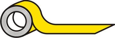 Taśma samoprzylepna żółta 5 cm 33mb