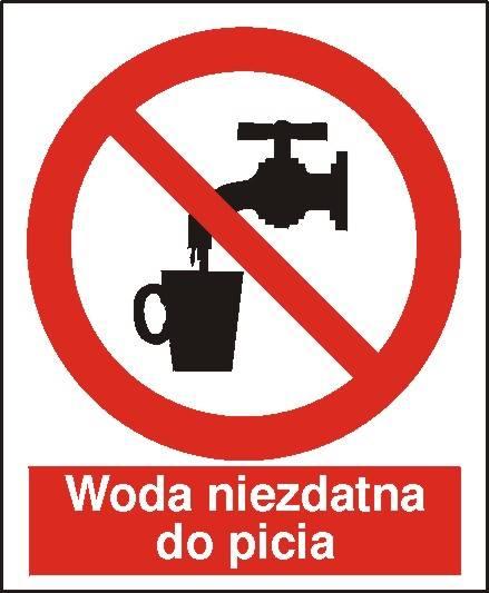 [603] - Zakaz picia wody (woda niezdatna do picia)