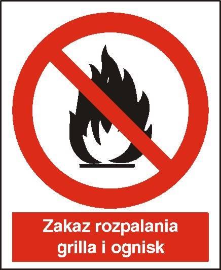 [601-01] - Zakaz rozpalania grilla i ognisk