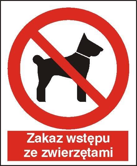 [605] - Zakaz wstępu ze zwierzętami,