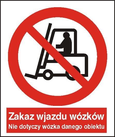 [604-01] - Zakaz wjazdu wózków.