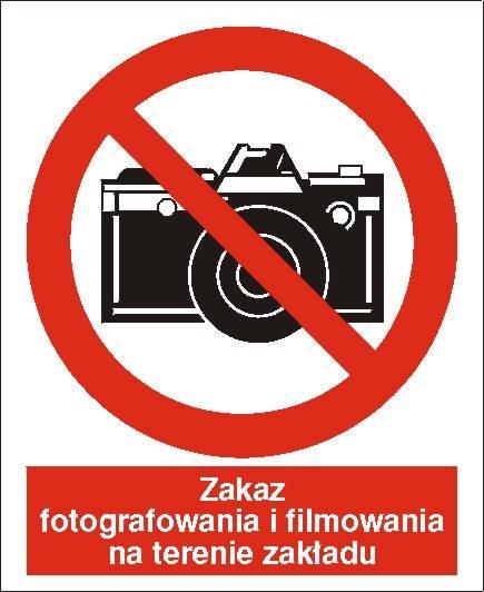 [609-01] - Zakaz fotografowania i filmowania
