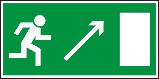 [102-03] - Kierunek do wyjścia drogi ewakuacyjnej