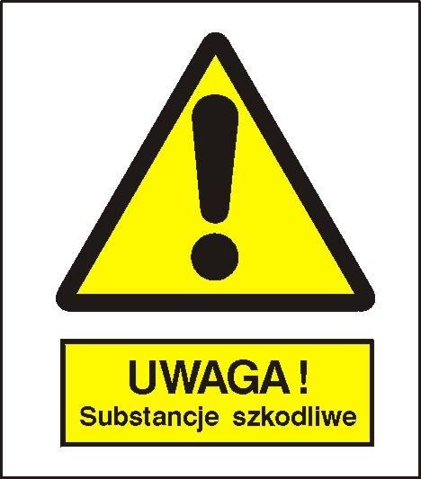 [301-06] - Ostrzeżenie przed sub. szkodliwymi