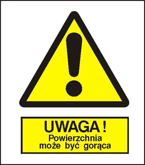 [301-01] - Ostrzeżenie przed gorącą powierzchnią