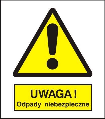 [301-14] - Ostrzeżenie przed niebezp.i odpadami